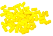 10gm czech glass large bugle beads yellow mix