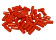 10gm czech glass large bugle beads red mix