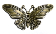 Antique Brass Butterfly Pendant 60mm