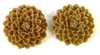 4pc resin flower cabochon 25mm light brown