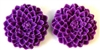 4pc resin flower cabochon 25mm purple