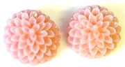 8pc resin flower cabochon 15mm pink