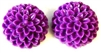 2pc resin flower cabochon 15mm purple