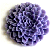 2pc resin cabochon chrissie flowers 22mm lavender