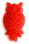 2pc resin cabochon owls 15x25mm red