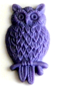 2pc resin cabochon owls 15x25mm lavender