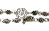 Antique Silver Rose & Bird Chain (19 Link Length)