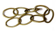Antique Brass Oval Chain 12mm 50CM length