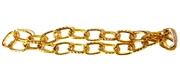Antique Gold Oval Etched Chain 5mm 1M Length
