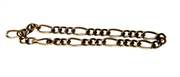 Antique Brass Figaro Chain 3mm 2M Length