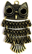 1pc moveable owl charm brass 75x35mm