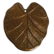 1pc antique brass large flat leaf 28x32mm