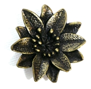 1pc antique brass flower pendant 38mm