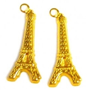 6pc brass eiffel tower charms