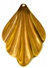 2pc brass charm diamond wavy drop 25mm