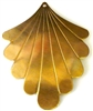 2pc brass charm diamond fan drop 40x25mm