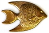 1pc brass charm large fish 40x30mm