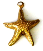 2pc brass charm starfish 16mm
