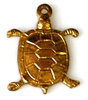 2pc brass charm small turtle 12x15mm
