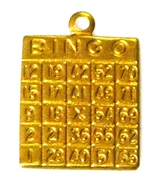 2pc brass charm bingo cards