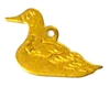 2pc brass charm flat duck