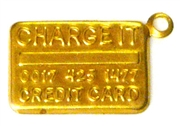 5pc brass charm credit card