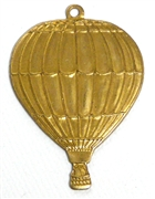 1pc brass hot air baloon charm 38x28mm