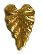 1pc brass textured small leaf 15x25mm