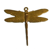 1pc brass small dragonfly charm 24x26mm