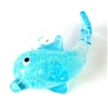 1pc glass charm glow in the dark dolphin 20mm