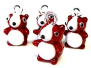 1pc glass charm puppy 30mm