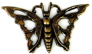 1pc antique gold charm open butterfly 35x22mm