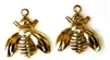 4pc gold plated bug charms
