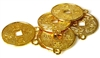 6pc gold plated coins 21mm