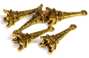 8pc mini eiffel tower charms gold 24mm