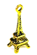 2pc antique gold eiffel tower charms 24x8mm