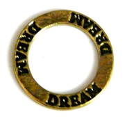 1pc 22mm double sides toggle ring gold plated dream