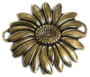 1pc antique gold sunflower connector 36x32mm