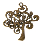 1pc Antique Brass Tree Swirls Charm/ Pendant 41x39mm