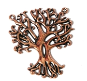 1pc Antique Copper Tree Swirls Charm 34x28mm