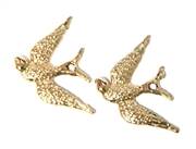2pc Rose Gold Swallow Bird Charm 20x25mm