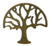 1pc Antique Brass Large Tree Charm / Pendant 48x46mm