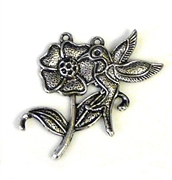 1pc antique silver hummingbird pendant 2 hole