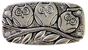 2pc owl connector 4 strand antique silver