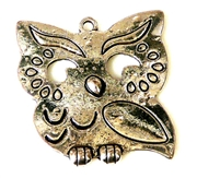 2pc antique silver solid small owl 31x30mm