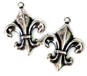 1pc fluer charm antique silver