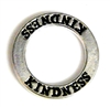 1pc 22mm double sides toggle ring silver plated kindness