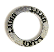 1pc 22mm double sides toggle ring silver plated unity