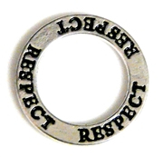 1pc 22mm double sides toggle ring silver plated respect