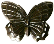 1pc nickel brushed butterfly charm
